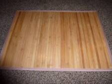 6-Costco Loft Bamboo Wood Placemats 13x18.5 Reed Trim Place Mat EUC