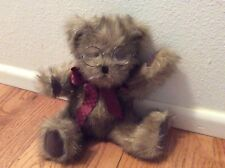 Boyd's Heirloom Collection 12� Fuzzy Grizbear Plush Bear with Glasses Mwt