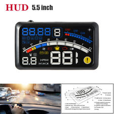 5.5'' 12V OBII Auto SUV HUD Head Up Display Digital Speeding System Fuel Engine