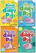 Diary of Pig Emer Stamp Collection 4 Books Set Super Amazing Adventures of Me