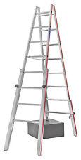 Treppenstehleiter 2x8 Spr. AHmax 3,55m mit 4 verstellbaren Holmen Hymer 412316
