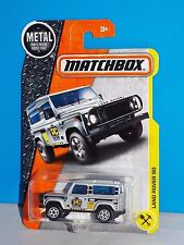 Matchbox 2017 Construction Series #48 Land Rover 90 Silver Taylor Construction