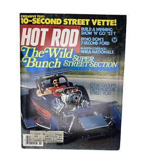 Hot Rod Magazine Original Vintage November 1978 Steve Group 10-Second Vette