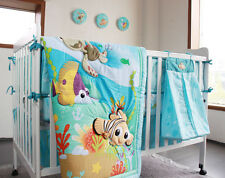 NEW Baby Cot Bedding Sets 11 PCs - Quilt Bumper Fitted Sheet Dust Ruffle 127-11