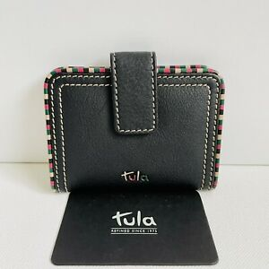 TULA (By Radley) Mallory Black Leather Travel Pass Card Holder - BNWT - RRP £29