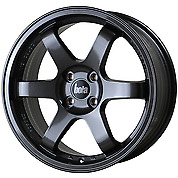 "Bola B1 ALLOY WHEELS 5X114.3 Hyper Black 18"" Staggered"