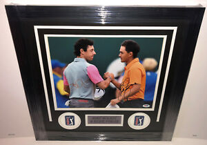 PSA/DNA RICKIE FOWLER & RORY MCILROY Signed Autographed FRAMED 11x14 Golf Photo