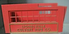 Lionel Post War Lionelville Culvert Pipe Co Replacement Part Control Booth Walls