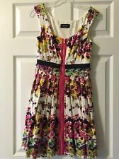 Guess Floral Zip Up Front Dress Size 2