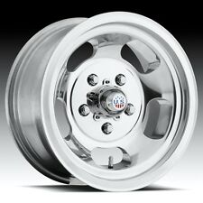 One 15x5 Us Mag Indy U101 5x4.75 et-12 Polished Wheel
