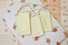 East of India printed Gift Tags shabby chic Engagement Wedding Anniversary theme