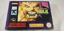 ♕* Super Nintendo * The Incredible Hulk * Box + Manual * SNES * PAL *