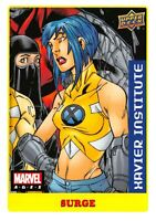 Marvel Ages 2021 (UD) LOW SERIES STICKER PARALLEL BASE Card #54 / SURGE
