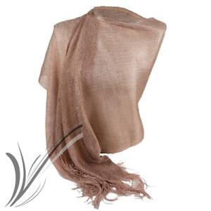Stola cipria foulard oro rosa cerimonia elegante lurex rose gold sciarpa bronzo