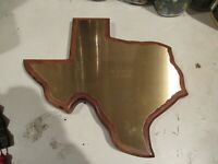 VINTAGE WALNUT GOLF WALL PLAQUE TROPHY AWARD STATE of TEXAS NICE
