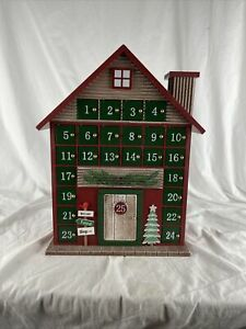 """16"""" Wooden Advent Calendar 2019 24 Doors"""