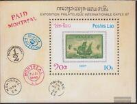 Laos Block116 (kompl.Ausg.) postfrisch 1987 CAPEX ´87