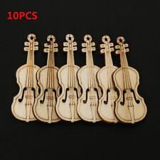 Projects Arts DIY Crafts Wood Cutout Chips Violin Shape Scrapbooking Ornament