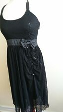 Lace Evening Dress, Ballet Dress, Little Black Dress, Party, Net Dress, Size S