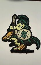 """Msu Michigan State Spartans embroidered iron on patch vintage 3.5"""" x 3"""" Grade A"""