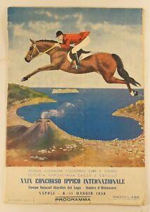 Programma ippico internazionale Napoli 1958