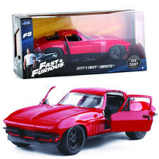 1:32 FAST & FURIOUS 1966 LETTY'S CHEVY CORVETTE VINTAGE MODEL DIECAST CAR TOY