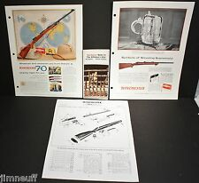 Nos 1956 Winchester-Western Ammo & Model 70 Advertisements and Brochure