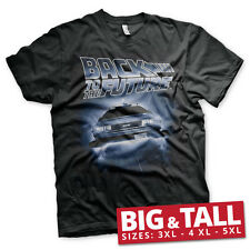 Officially Licensed Back To The Future-Flying Delorean 3XL, 4XL, 5XL Men T-Shirt