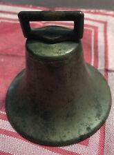Antique Brass Bell- Nice Tone. 3-3/4� X 3-3/4�