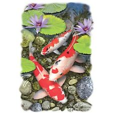 Koi Fish Pond HEAT PRESS TRANSFER for T Shirt Tote Sweatshirt Quilt Fabric 549a