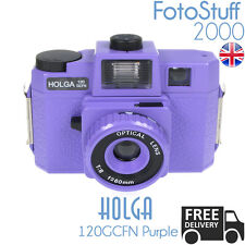 Holga 120-Gcfn-Pe Purple Lomo Medium Format Film Camera Colour Flash Uk Stock