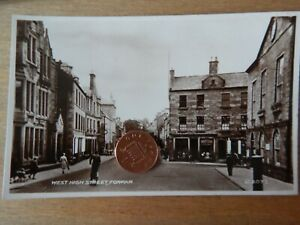 Vintage RP Postcard  West High Street Forfar B2077 Valentines