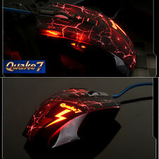UK 8D 2400DPI Ajazz Quake 7 Q7 Molten Gaming Mouse 8 Buttons MMO CS WOW CF LOL