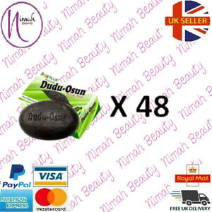 48 x Dudu Osun African Black Soap 150g for eczema,Acne, fungus(48 PACK)Full Pack