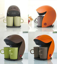 Recolte Mini Coffee Maker Machine 2Cups Included Japan Orange Brown Kaffe Duo