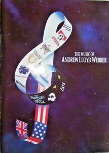 THE MUSIC OF ANDREW LLOYD WEBBER..SOUVENIR PROGRAM..with MICHAEL CRAWFORD,1992