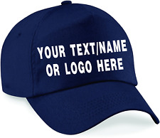 Personalised baseball caps Customised Adults Adjustable Caps Print Hat Text/Logo