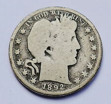 SEMI-KEY!! 1892-S U.S. BARBER SILVER HALF DOLLAR ~ ABOUT GOOD - GOOD CONDITION