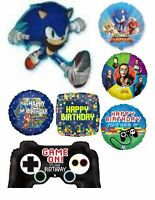 Video Game Sonic The Hedgehog Classis '90s Balloons Party Ware Decoration Helium