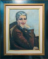 Eugen Spiro 1874-1972: Dame 1933 Öl 71 x 51 cm Ausstellungen publiziert