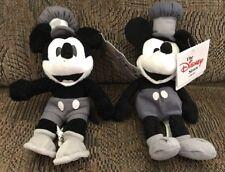 Disney Steamboat Willie Mickey Beanbag Plush Lot Of 2  Euro Disney & Disneyland