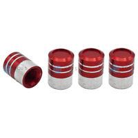 4 pezzi STANDARD ALLUMINIO TAPPI VALVOLA in rosso per auto PKW CAMION MOTO-NUOVO