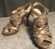 COACH gold high heels shoes formal prom Women's size 7