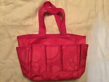 thirty one small pink tote with pockets