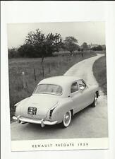 ORIGINAL RENAULT FREGATE 1959 PRESS PHOTO - BROCHURE RELATED