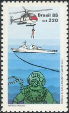 Brazil 1985 Air-Sea Rescue/Transport/Helicopter/Ship/Diver/Diving 1v (n26113)