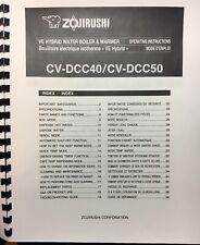 OWNER'S MANUAL for Zojirushi VE Hybrid Water Boiler & Warmer CV-DCC40 & CV-DCC50