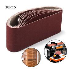"10Pcs Polishing Oxide Sanding Sander Belts For Use Wood Plastic 80 Grit 4"" x 24"""