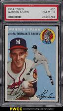 1954 Topps Warren Spahn #20 PSA 8 NM-MT (PWCC)