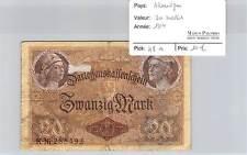 BILLET ALLEMAGNE - 20 MARK 1914
